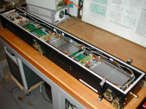 TOB rod assembly in a test box at SiDet